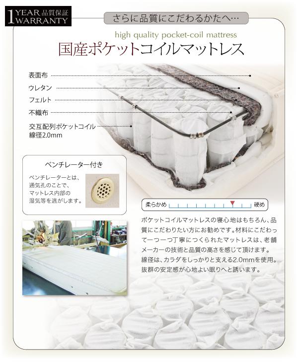 ベッド シングル フッドロー【Tiberia...の説明画像23