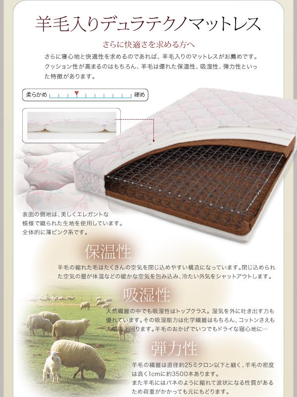 ベッド シングル フッドロー【Tiberia...の説明画像29