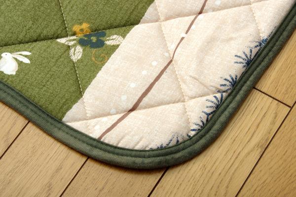 和柄 こたつ布団セット こたつ掛け布団 こたつ敷布団セット 長方形大 『こよみ』 グリーン 約205×285cm