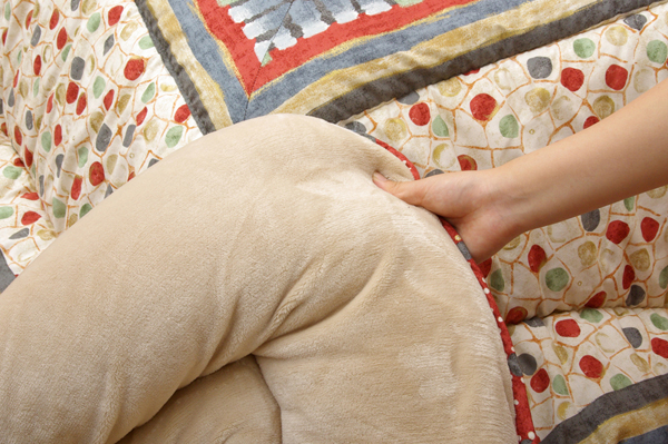 国内プリント こたつ厚掛敷布団セット こたつ布団セット 『オアシス』 約205×245cm(裏地:フランネル)