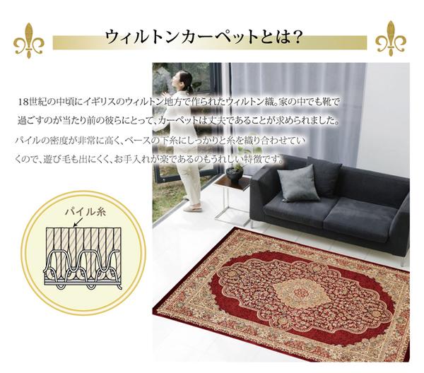 おすすめ!おしゃれなラグマット トルコ製 ウィルトン織り カーペット 絨毯 ホットカーペット対応 『ベルミラ RUG』画像02