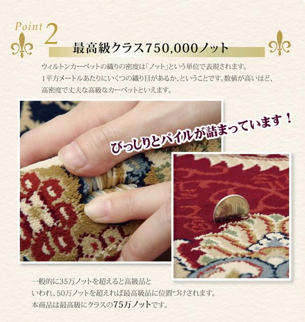 おすすめ!おしゃれなラグマット トルコ製 ウィルトン織り カーペット 絨毯 ホットカーペット対応 『ベルミラ RUG』画像04