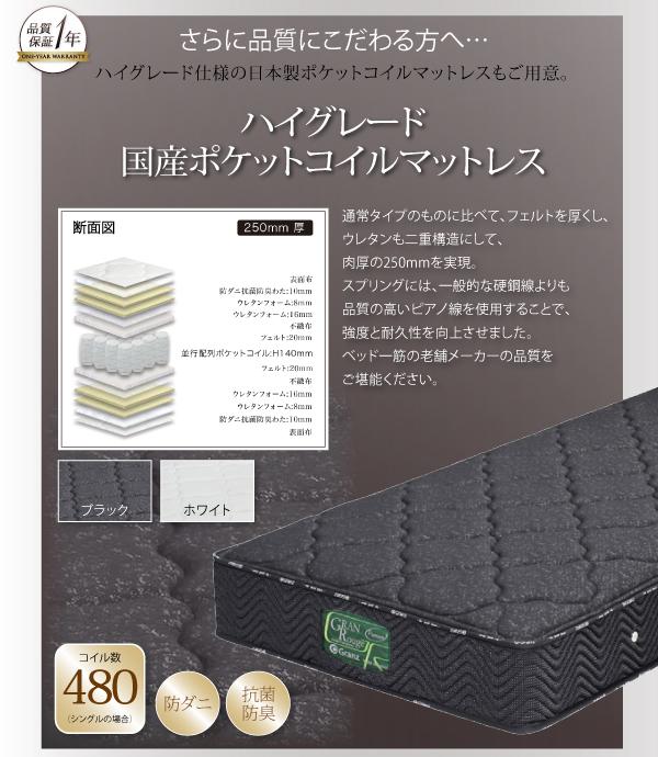 ローベッド ワイド200【国産ポケットコイル...の説明画像24