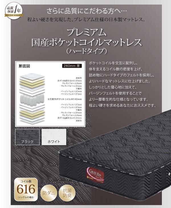 ローベッド ワイド200【国産ポケットコイル...の説明画像25