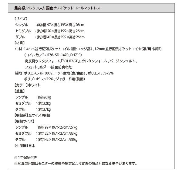 ローベッド ワイド200【国産ポケットコイル...の説明画像37