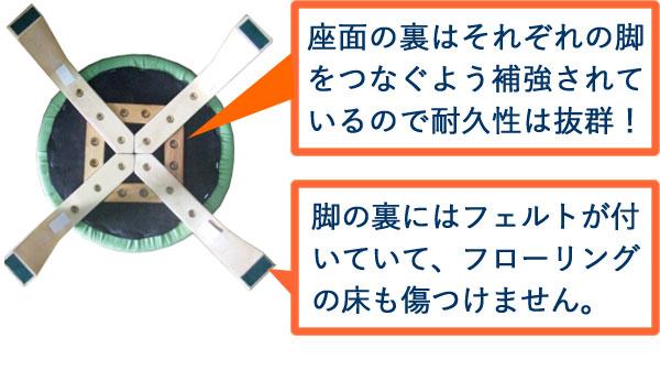 スタッキングスツール/丸椅子 【同色5脚セット...の説明画像7