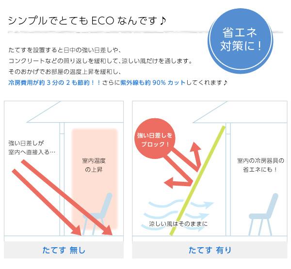 洋風たてす/サンシェード 【同色4セット/ブラ...の説明画像2