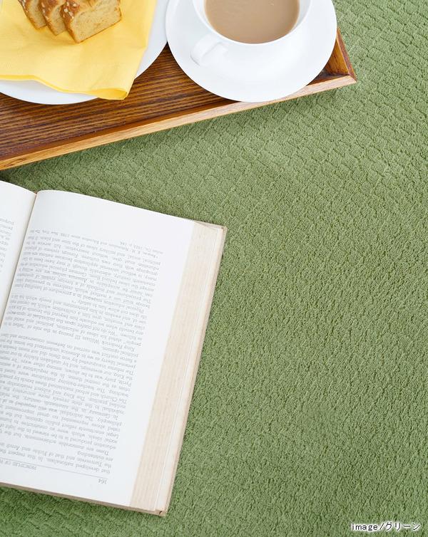 おすすめ!おしゃれなラグマット カラフルステッチ ラグマット/絨毯 洗える 防滑 軽量 ホットカーペット可『シュエット』画像02