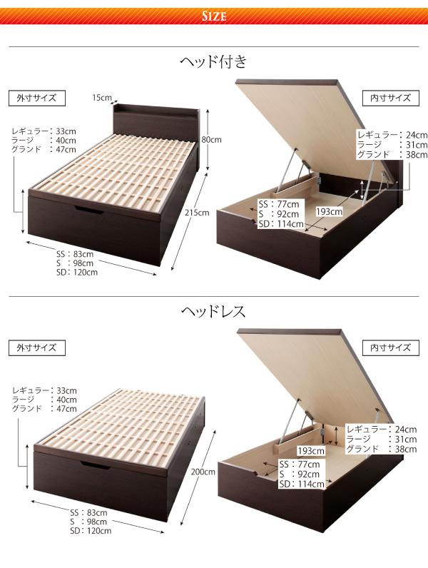 すのこベッド 敷ふとん対応&大容量収納を実現 国産すのこ跳ね上げベッド Begleiter ベグレイター画像22