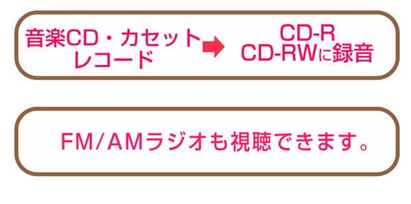ダブルCDマルチプレーヤー/レコードプレーヤー 【ピアノブラウン】 スピーカー内蔵 とうしょう TS-7885PBR