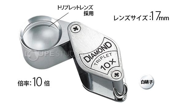 池田レンズ 宝石用ルーペ 10倍 トリプレット...の説明画像2