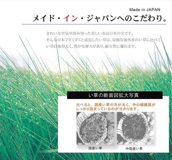 おすすめ!い草ラグ 国産 ラグマット カーペット『DX組子』(裏:不織布)画像03