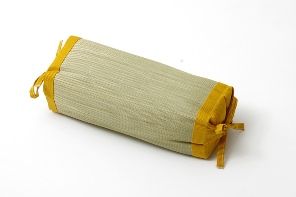 枕 まくら い草枕 消臭 ピロー 国産 無地 高さ調整 『スリムロング 角枕』 イエロー 約40×15cm