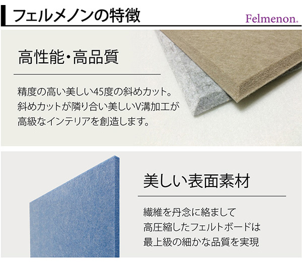 吸音パネル/防音フェルトボード 【30×30c...の説明画像4