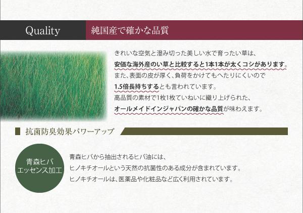 おすすめ!8色から選べる 純国産 い草 ヘリなしインテリアユニット畳 arun アラン画像13