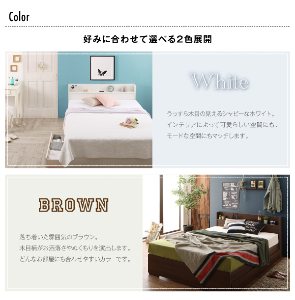 工具いらずの組立・分解簡単収納ベッド【Lacomita】ラコミタ