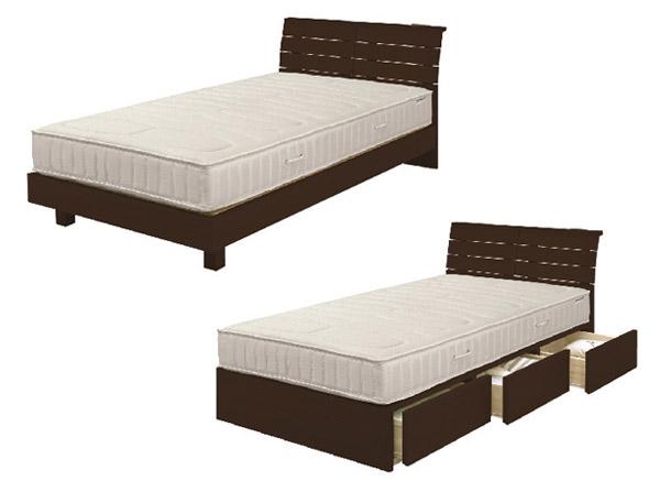 宮付き 二口コンセント付き すのこベッド 『Lamuza A』 ベッドフレーム画像03