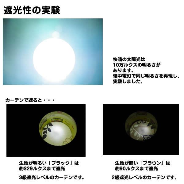 ローズ柄遮光カーテン/目隠し 【2枚組 100...の説明画像4
