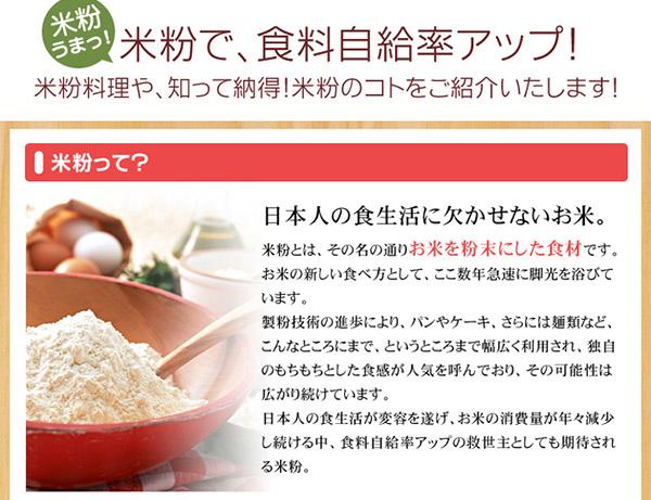 お試しに!中村農園の米粉300g×3袋セットの説明画像2
