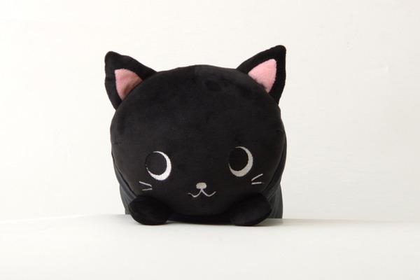 抱きまくら まくら 枕 クッション 動物 ねこ ネコ 猫 『ふわもち アニマル 抱き枕 黒猫』 ブラック 約20×80cm