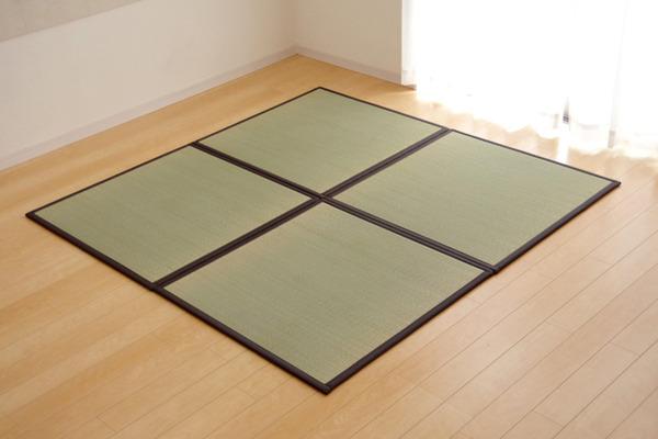おすすめ!い草 置き畳 ユニット畳 国産 半畳『かるピタ』単品 (裏:すべりにくい加工)画像12