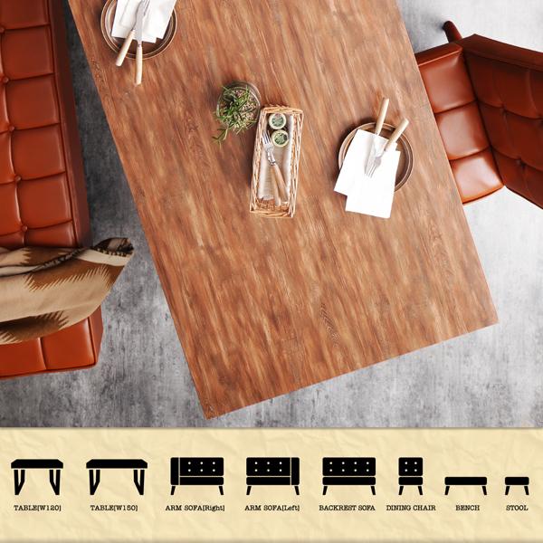 おすすめ!古木風 ヴィンテージ アメリカンスタイル ソファーダイニングテーブルセット【99】ダブルナイン画像02