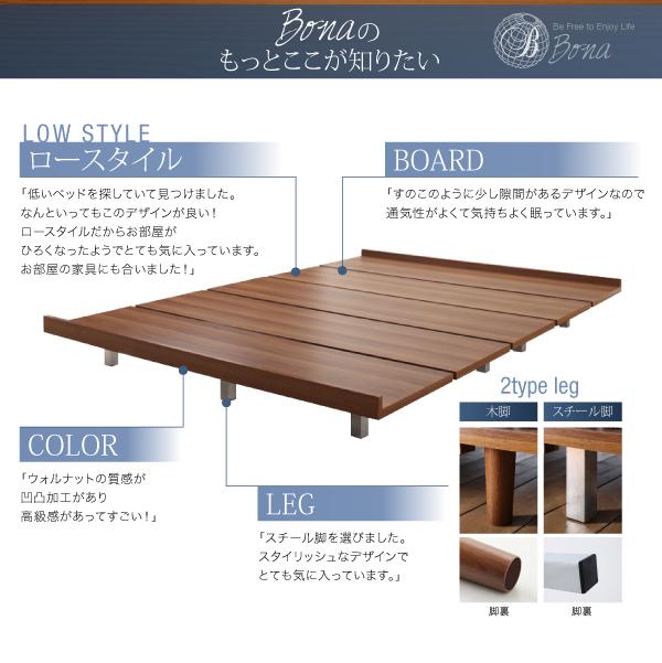 すのこデザイン ローベッド デザインボードベッド Bona ボーナ画像29