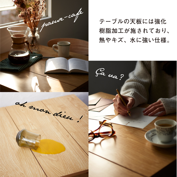 テーブル 幅68cm テーブルカラー:ホワイ...の説明画像10