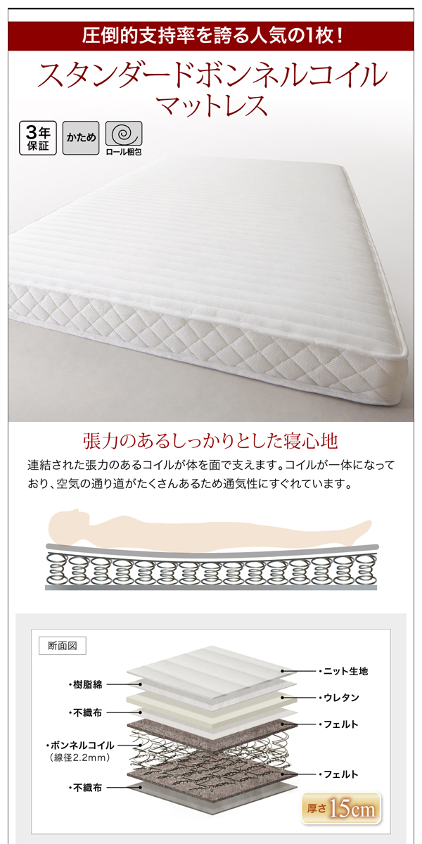 棚・コンセント・収納付大型モダンベッド【Cedric】セドリック