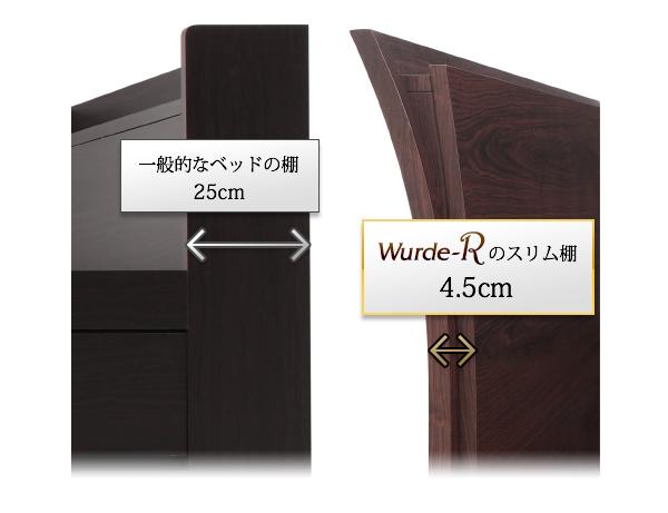 棚・コンセント付モダンすのこベッド Wurde-R ヴルデアール