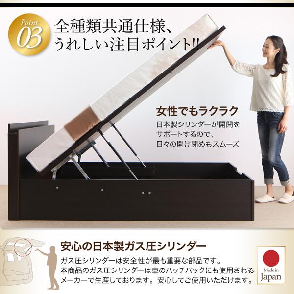 跳ね上げ式収納ベッド 【NEO-Gransta】ネオ・グランスタ