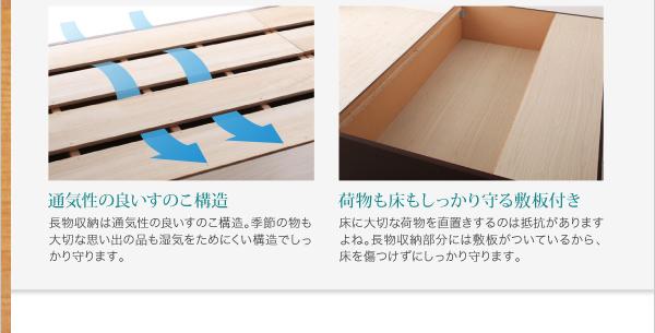 すのこベッド 長く使える棚・コンセント付国産頑丈チェスト収納ベッド Heracles ヘラクレス画像13