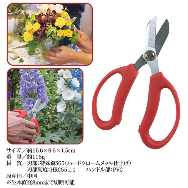 使いやすい 植木鋏/花ばさみ 【165mm】 ...の説明画像3
