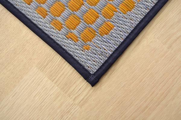 おすすめ!モダン ふっくら い草 ラグマット/絨毯 日本製 抗菌 防臭 調湿 裏面ウレタン『F市松和紋』画像10