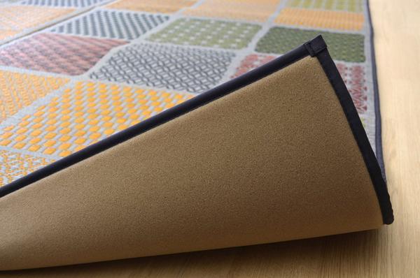 おすすめ!モダン ふっくら い草 ラグマット/絨毯 日本製 抗菌 防臭 調湿 裏面ウレタン『F市松和紋』画像11