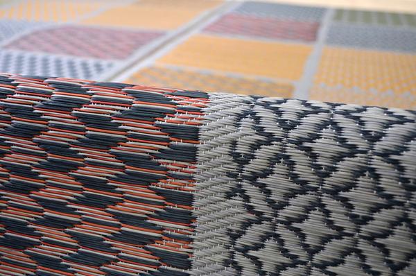 おすすめ!モダン ふっくら い草 ラグマット/絨毯 日本製 抗菌 防臭 調湿 裏面ウレタン『F市松和紋』画像12