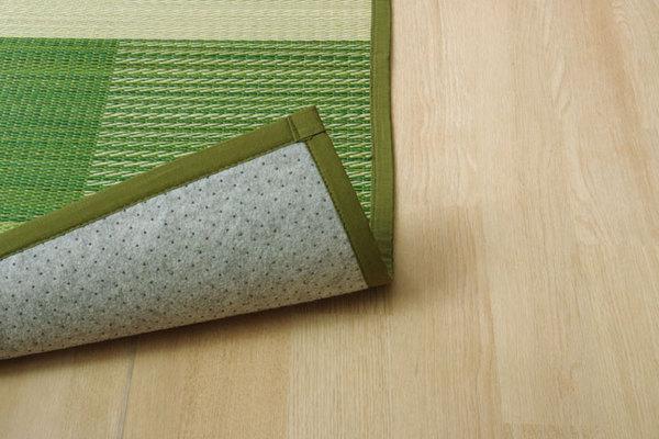 おすすめ!い草 ラグマット/絨毯 シンプル 格子柄 撥水 防滑 抗菌 防臭 消臭 調湿『NSプラム』画像10