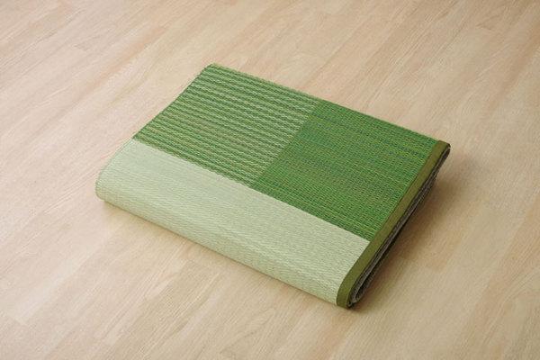 おすすめ!い草 ラグマット/絨毯 シンプル 格子柄 撥水 防滑 抗菌 防臭 消臭 調湿『NSプラム』画像11
