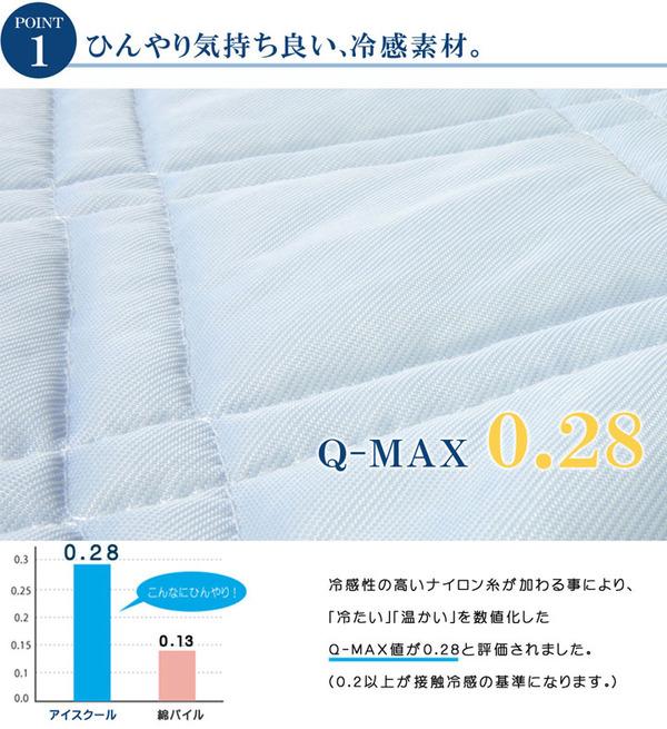 敷きパッド シングル 冷感 涼感 接触冷感 洗...の説明画像2