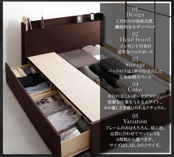 お客様組立 収納ベッド シングル すのこ仕様 ...の説明画像2