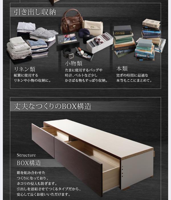 お客様組立 収納ベッド シングル すのこ仕様 ...の説明画像5