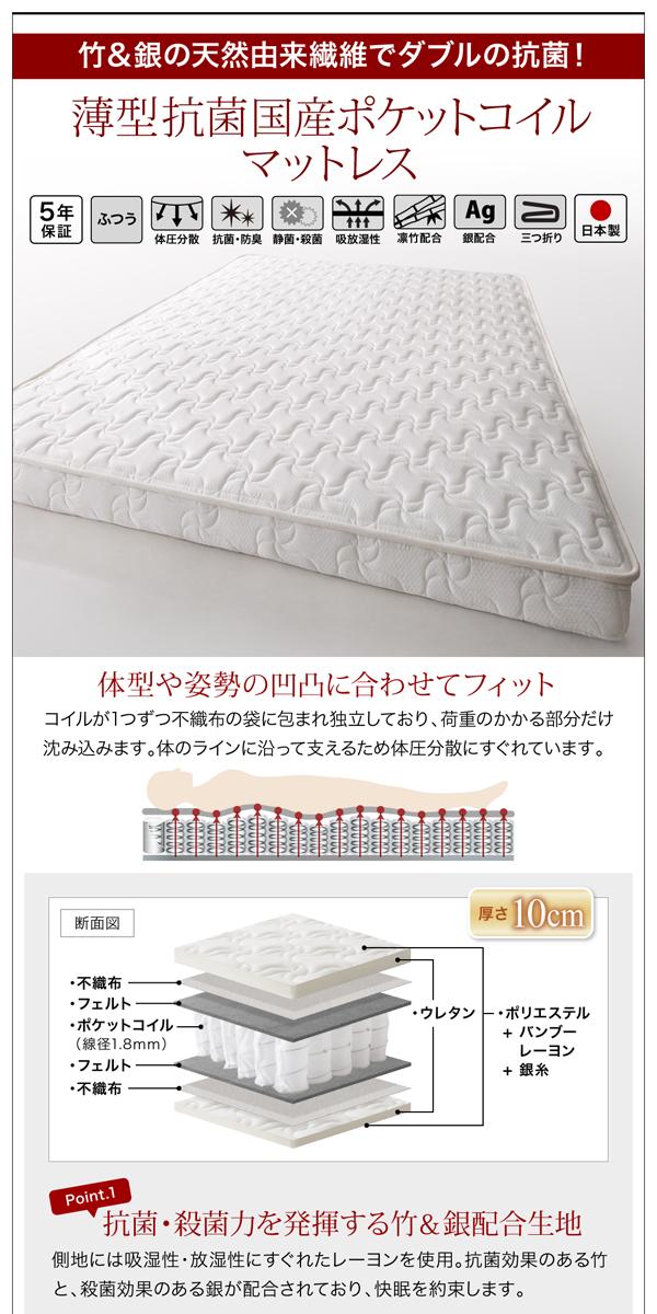 お客様組立 収納ベッド シングル すのこ仕様...の説明画像30
