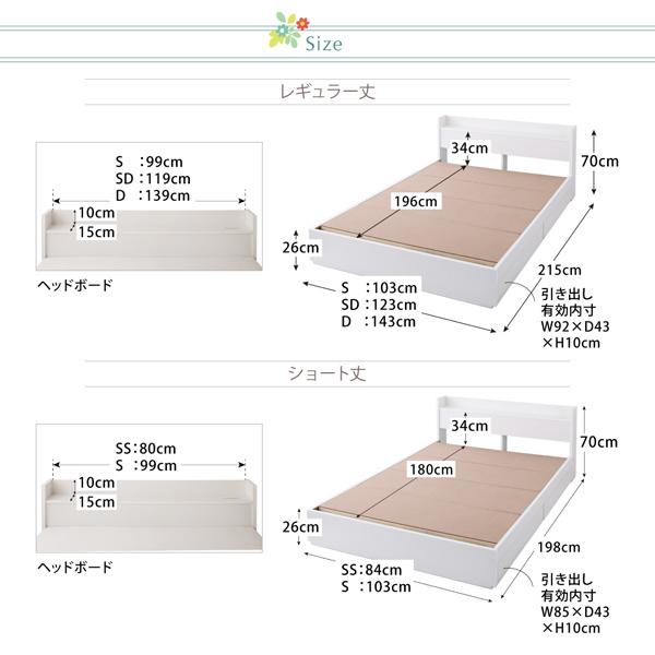 収納ベッド シングル ショート丈 リネン3点...の説明画像13