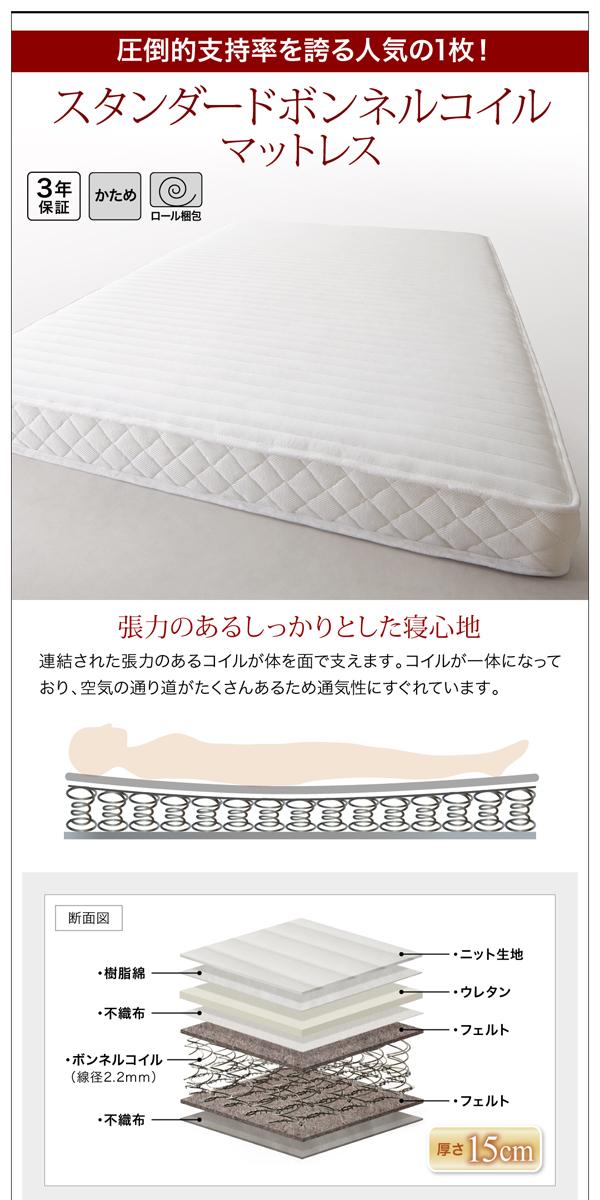 棚・コンセント付き収納ベッド 【Fleur】フルール