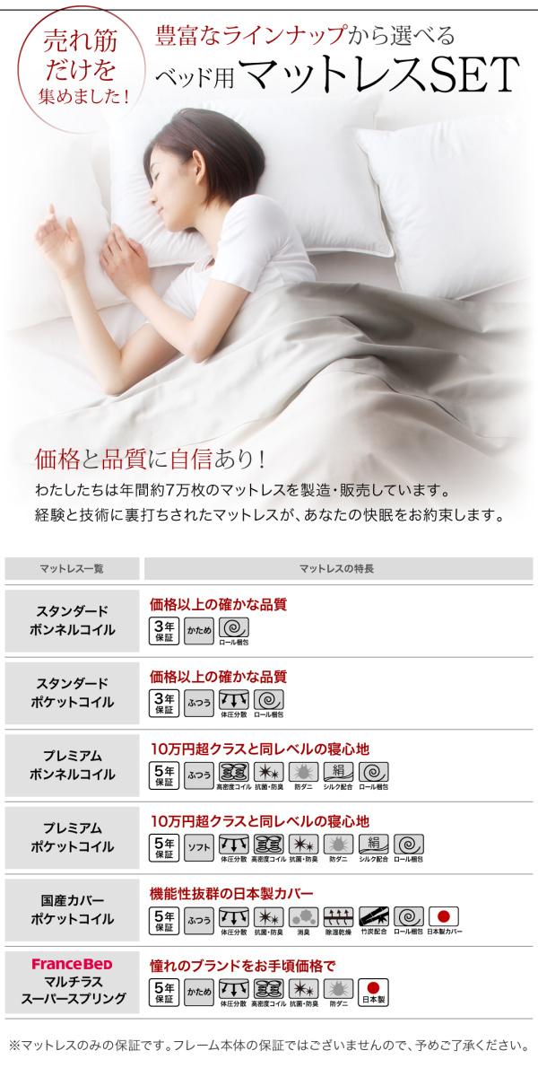 ライト・コンセント付きレザーすのこベッド【Vesal】ヴェサール