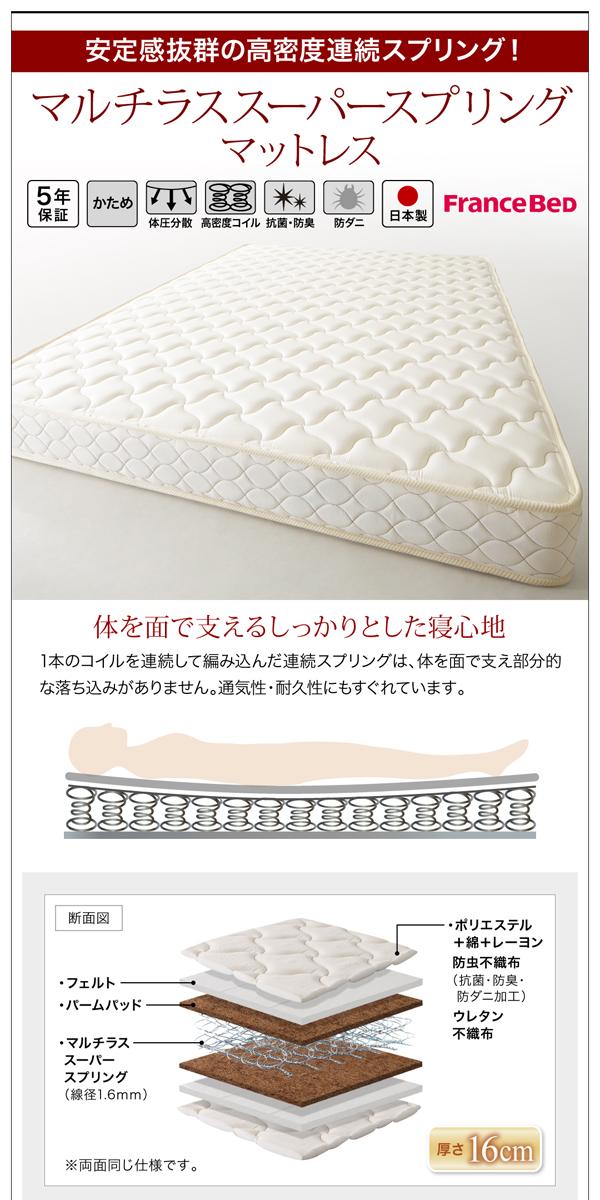 棚・コンセント付き収納ベッド 【Milliald】ミリアルド