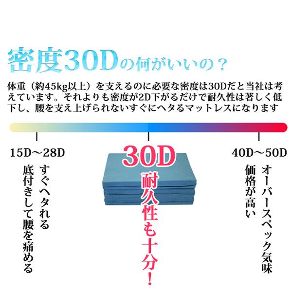 高反発マットレス 【シングル 厚さ10cm ミッドグレー】 高耐久性 310 『エイプマンパッド』 〔ベッドルーム 寝室〕
