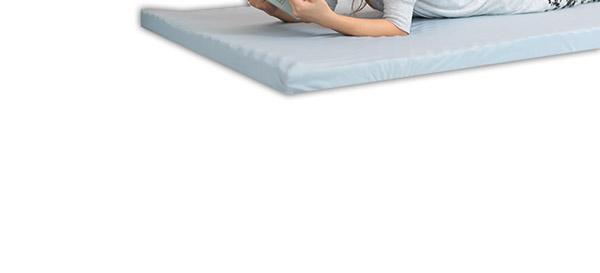 高反発マットレス 【ダブル 厚さ9cm ライトグレー】 高耐久性 PAD9 『エイプマンパッド』 〔ベッドルーム 寝室〕