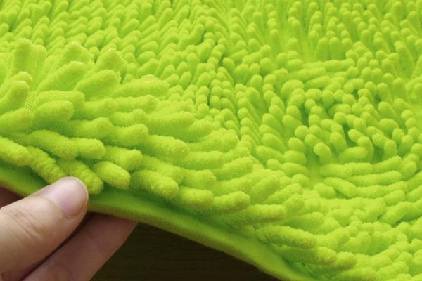 シンプル バスマット/フロアマット 【ブラウン 2枚組 約45×60cm】 長方形 洗える 吸水 速乾 防滑加工 無地の商品説明